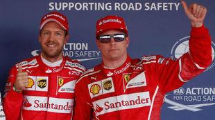 Vettel y Raikkonen, en Sochi