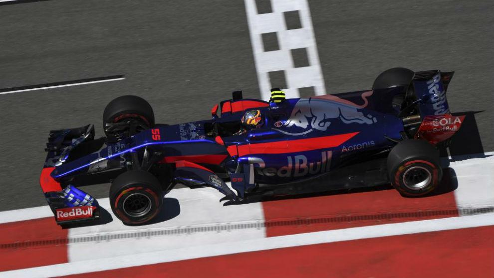 Carlos Sainz, durante una sesión del GP de Rusia