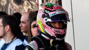 Sergio Pérez, tras la calificación de Sochi.