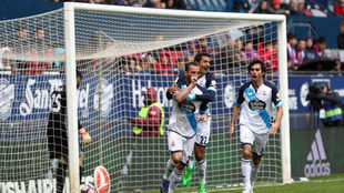 Guilherme celebrando el primero de sus goles