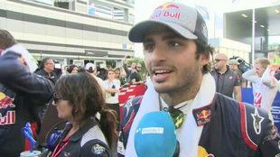 Carlos Sainz, tras concluir la carrera.