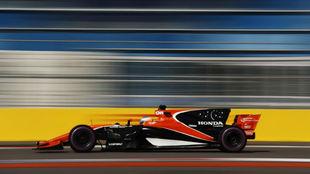 Fernando Alonso, durante el fin de semana en Sochi