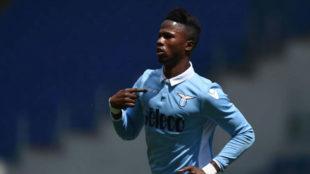 Keita tras anotar un gol con la Lazio
