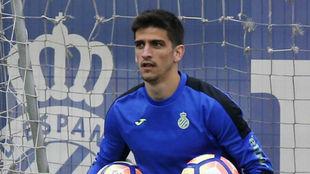 Gerard Moreno en un entrenamiento.