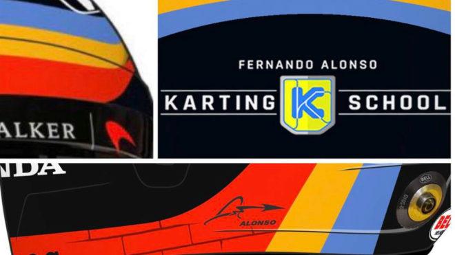 El casco de Alonso para las 500 Millas.
