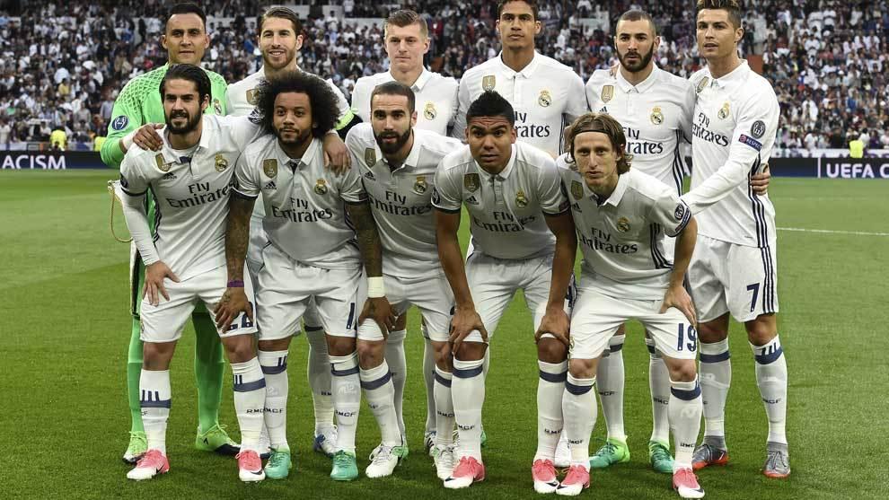 Once del Real Madrid ante el Atlético.