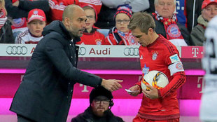 Guardiola y Lahm, en el Bayern.