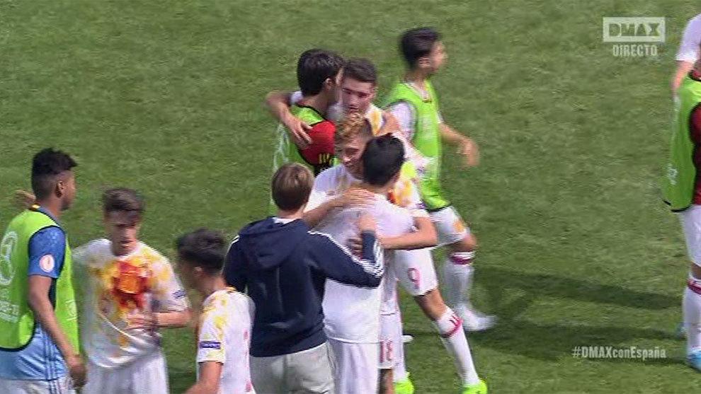 España celebra la victoria
