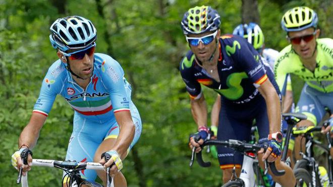 Nibali, en el pasado Giro junto a Alejandro Valverde.