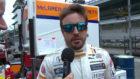 Alonso realiza sus primeras declaraciones a pie de pista en Indy.