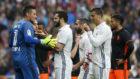 Lance del �ltimo Real Madrid-Valencia de LaLiga
