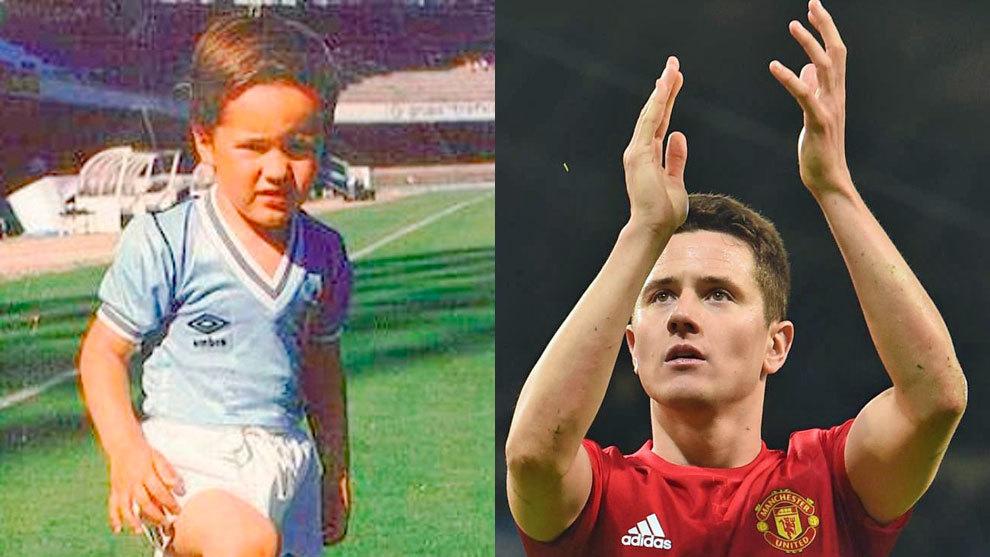 Ander cuando era pequeño y siendo jugador del United