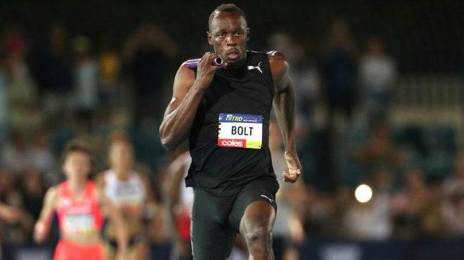 Bolt durante una carrera en Melbourne en febrero de este año.