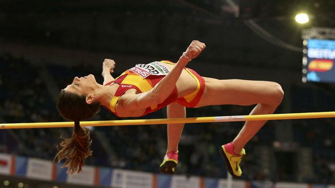 Ruth Beitia, en el último Campeonato de Europa bajo techo.