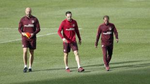 Juanfran, en un entrenamiento
