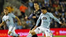 Roncaglia y Cristiano Ronaldo, en el partido de Copa en Bala�dos de...