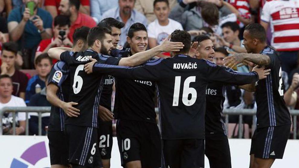 El Real Madrid goleó 4-0 al Granada
