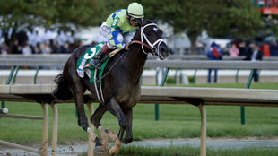Always Dreaming, durante el Derby de Kentucky