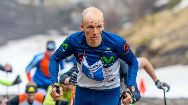 Karl Egloff, durante Red Fox Elbrus Sky Marathon.