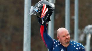 Steven Holcomb, en el Mundial de Koenigssee de 2017.