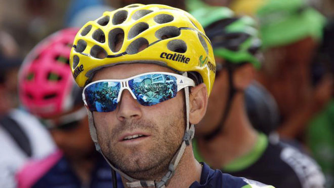 El ciclista del Movistar Alejandro Valverde.