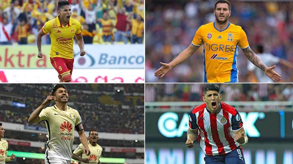 Ruidíaz, Gignac, Peralta y Pulido fueron los máximos anotadores de...