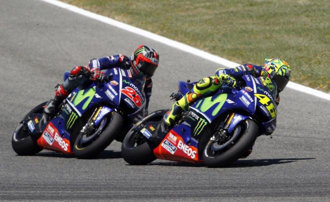 Rossi y Viñales.
