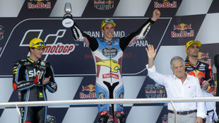 �lex M�rquez, en el podio de Jerez.