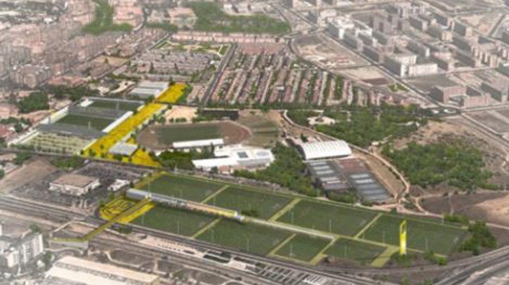 La ciudad deportiva del alcorc n con escuela y zona for Puerta 8 ciudad deportiva