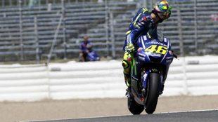 Rossi, en Jerez en el test.