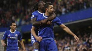 Diego Costa celebra su gol al 'Boro'.