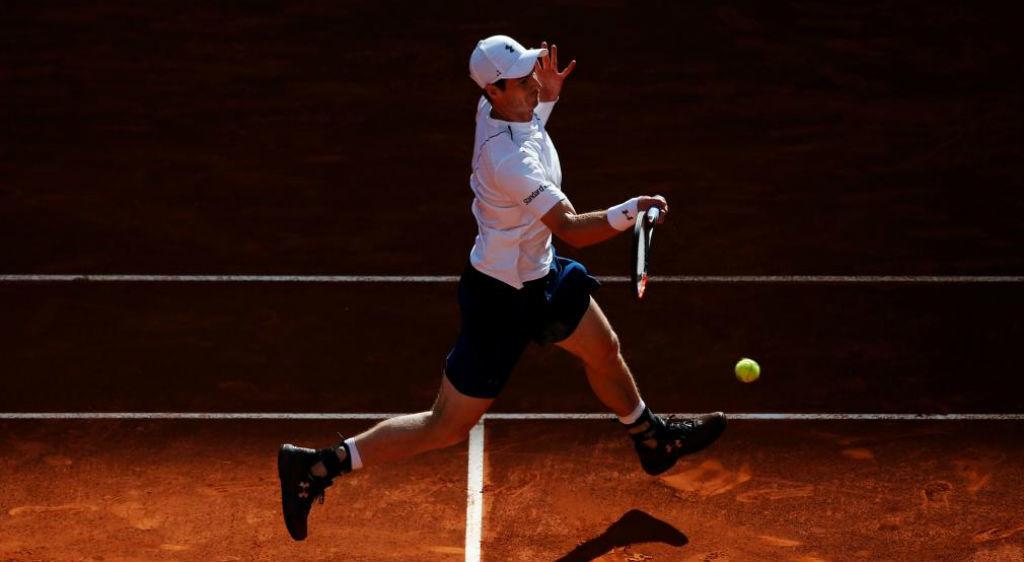 Andy Murray durante su partido ante Marius Copil en Madrid.