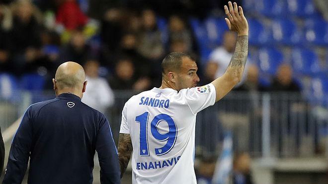 Sandro Ramírez, en el partido contra la Real Sociedad.