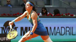Anastasija Sevastova durante su partido en Madrid ate Lara...
