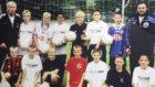 Kroos, con la camiseta negra del Real Madrid cuando era ni�o.