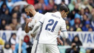 Benzema y Morata han generado un intenso debate sobre qui�n debe ser...