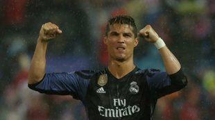 Cristiano celebra el pase a la final.