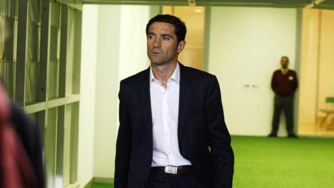 Marcelino, durante un partido de Liga con el Villarreal.