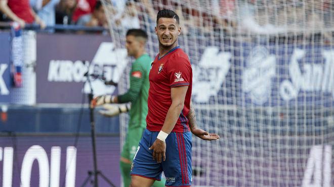 Sergio León, en un partido con Osasuna.