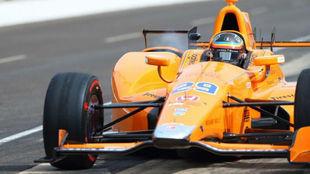 Fernando Alonso, durante el test de rookies para la Indy 500