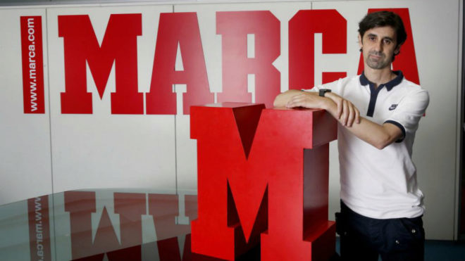 Jerónimo Bravo posa en la redacción de MARCA.