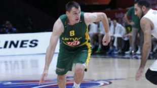Jonas Maciulis (Lituania) durante el Eurobasket 2015