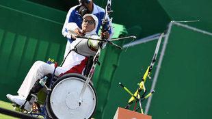 Zahra Nemati en los Juegos Paralímpicos de Río.