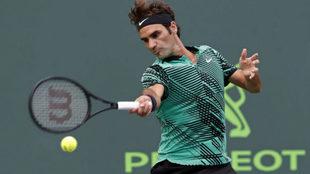 Roger Federer en el Masters 1000 de Miami.
