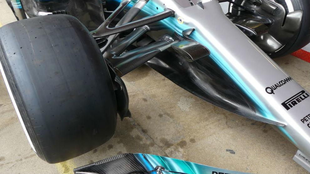 As� es el nuevo y espectacular morro del Mercedes W08