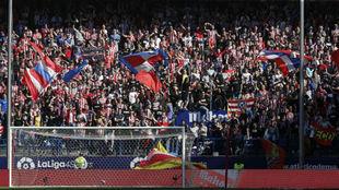 Imagen del Atl�tico de Madrid-Eibar de la pasada jornada.