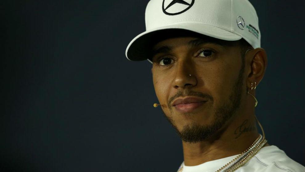 Lewis Hamilton, en la rueda de prensa de hoy en Montmel�.