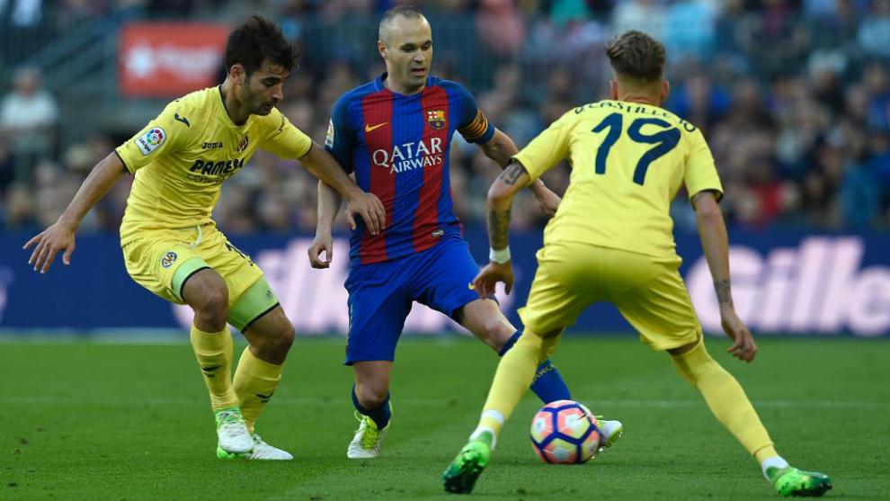 Iniesta, en el partido contra el Villarreal.