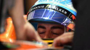 Alonso, dentro del McLaren.