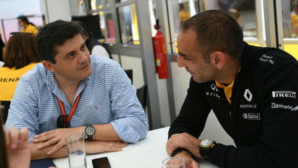 Cyril Abiteboul, con nuestro redactor